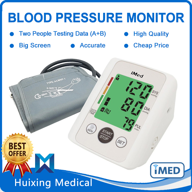 Backlight Big Screen Blood Pressure Sensor Cheap Price Digital Sphygmomanometer