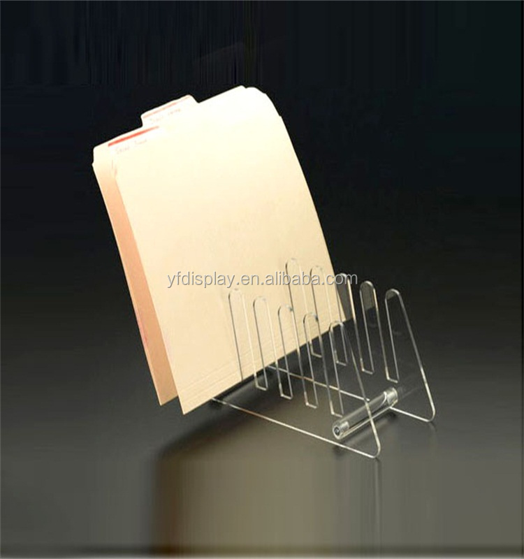 Office Supplier Clear Acrylic Notepaper Display Holder