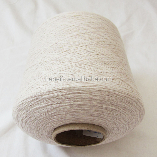 Natural fiber 55% hemp 45% organic cotton soft linen knitting yarn hemp yarn for sale