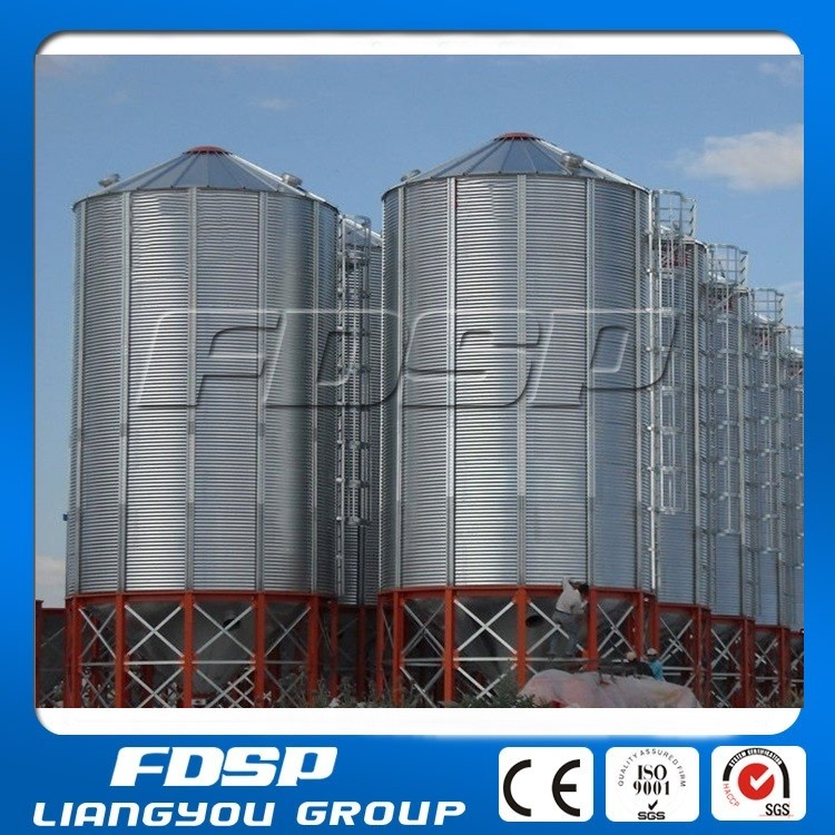 Cassawa Meal Storage Silos 250t Steel Structure With Cone Base ...