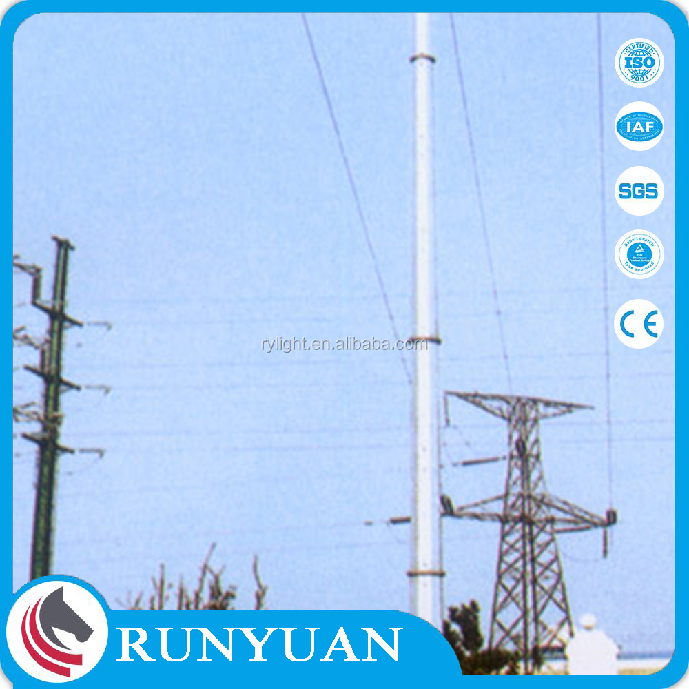 2017 galvanized high quality electric concrete pole