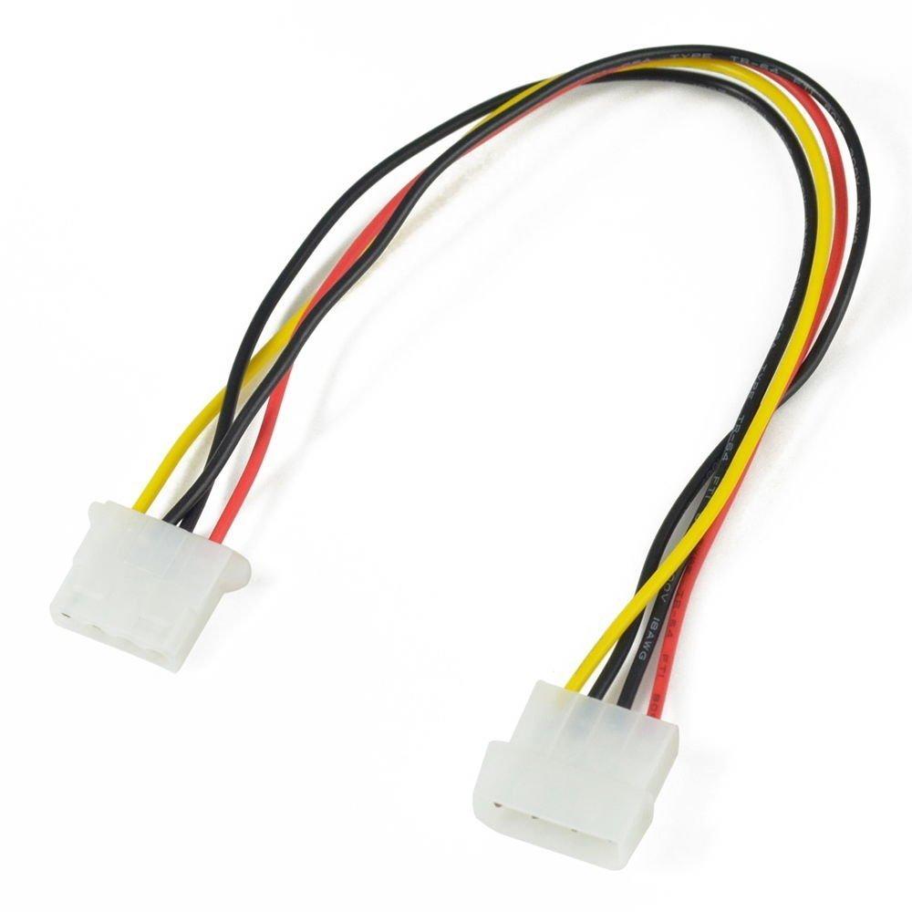 4 Pin Molex Male connector to 4 Pin Molex Female Connector - Power Cable
