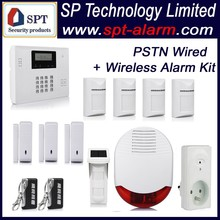 easy install 2015 CP-21B L02 auto dial home security alarm system wireless + wired wholesale kit