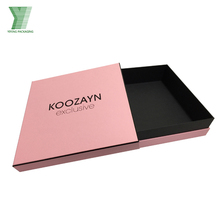 promotional red gift customized packaging design box guangzhou clothing