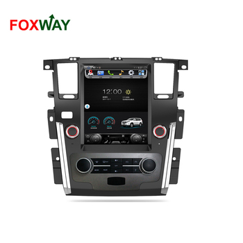 Factory wholesales vertical screen car dvd player for Nissan patrol with car stereo system