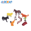 10pcs poultry farm set toy bulk plastic animal toys for marketing gift items promotion