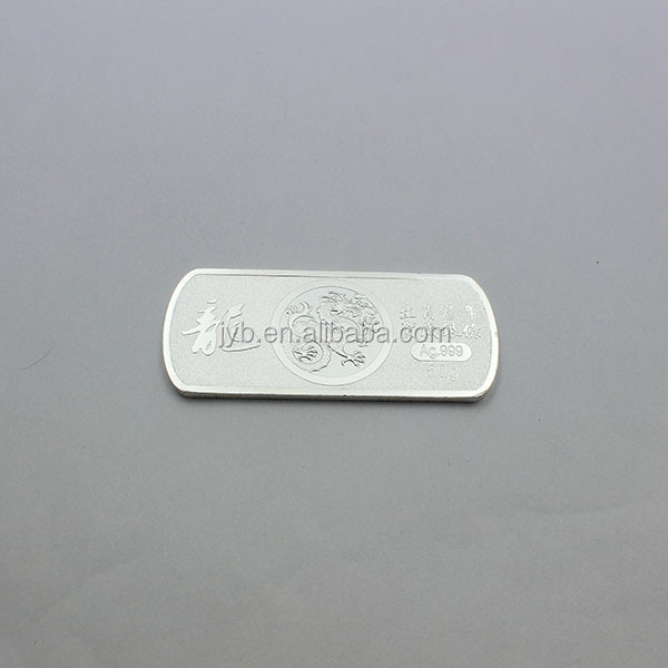 Metal souvenir silver bullion/silver bullion arts and crafts(JYB-137)