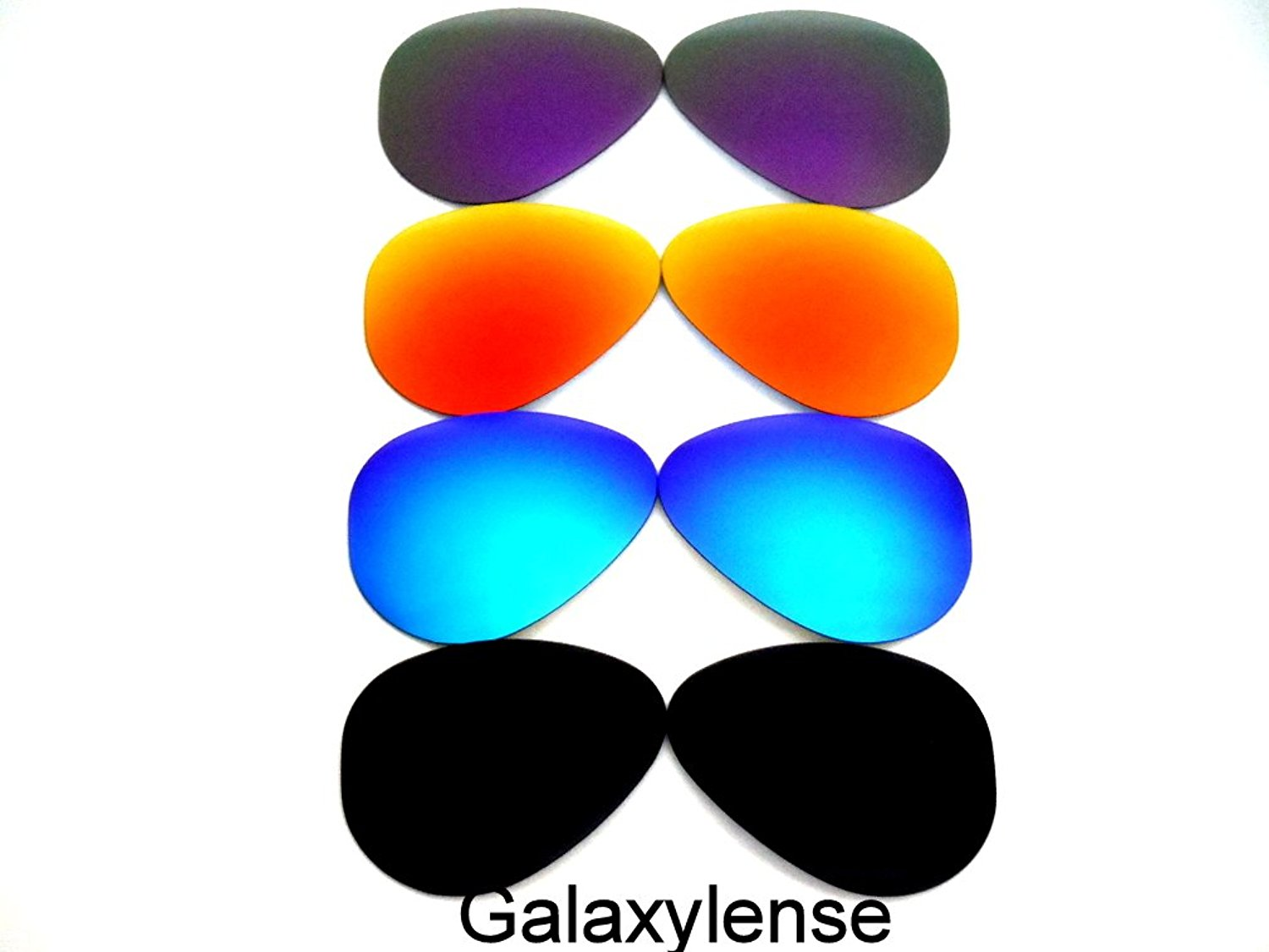 438c95868c Get Quotations · Replacement Lenses Ray-Ban RB3025 Black Blue Red Purple  62mm 4Pair Polarized