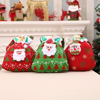 Christmas Bags.Hot Fashion Merry Christmas Santa Sack Gift Presents Bag Christmas Tree Candy Bags Wine Stocking Bottle Gift Bag Xmas Decoration Buy Wholesale Santa