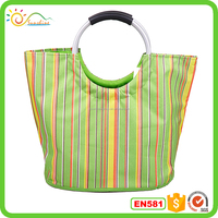 2016 New Fashion Folding Shopping trolley bag with EVA wheels,foldable shopping bag market trolley