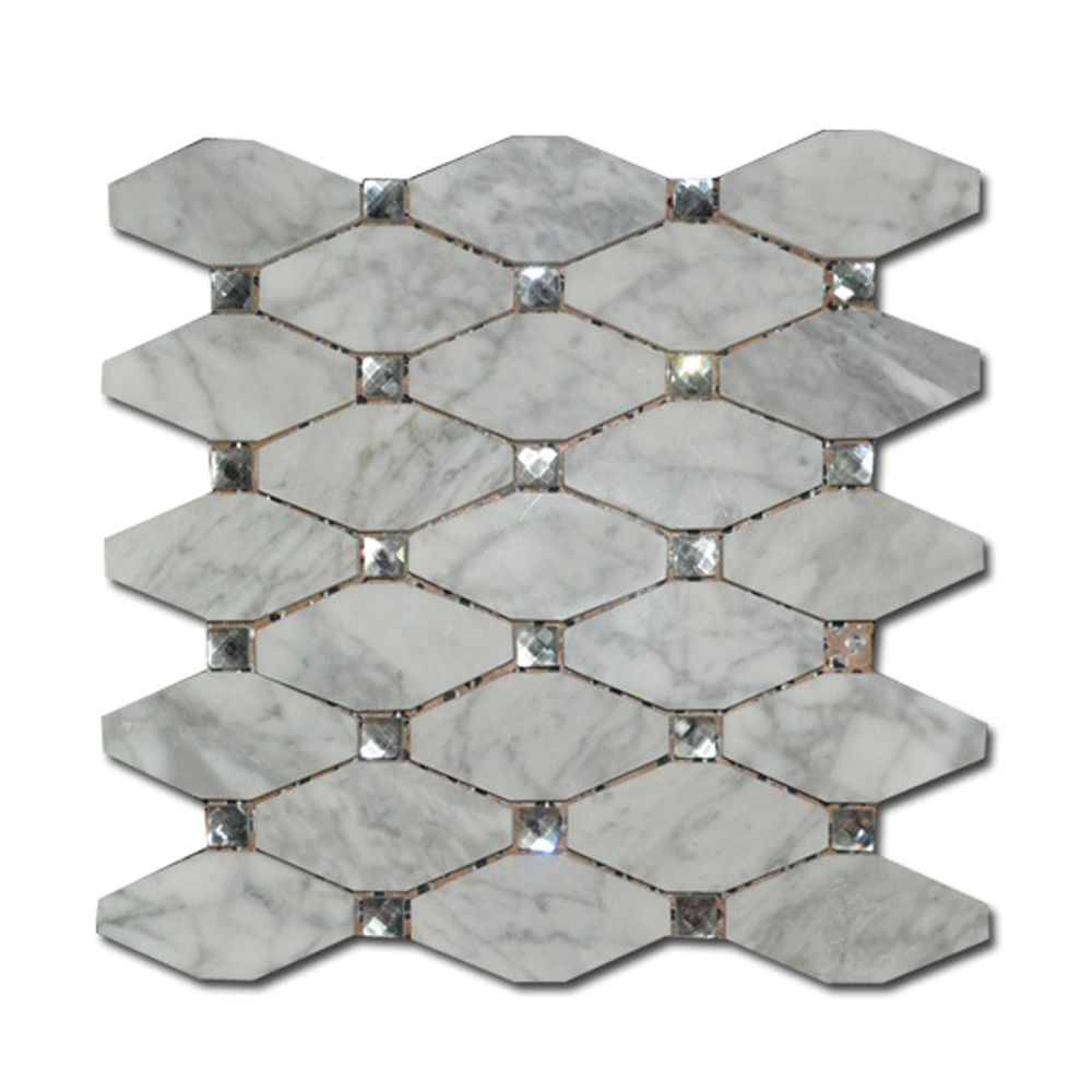 HLS001 supplier best price wall tile glass and marble mosaico