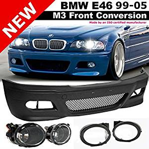 01-05 BMW E46 3 Series M3 99-02 M5 Fog Lights Clear Lens Driving Lamps PAIR