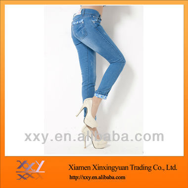 Fashion Discount Women Jeans Wholesale Price 2013