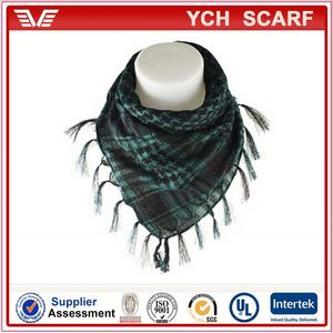 Fashion style knit wool shemagh scarf
