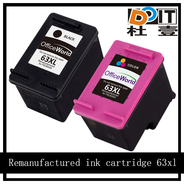 world best selling products 63xl remanufactured ink cartridge for hp
