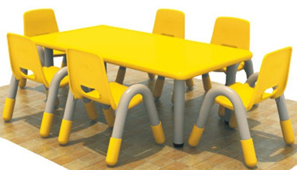 Kids Preschool Furniture Plastic Nursery Tables And Chairs School