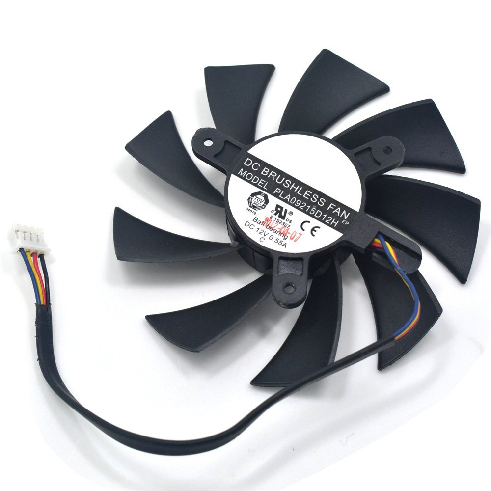87MM PLA09215D12H DC 12V 0.55A 4-Wire 42MM Ball Bearing Cooler Fan HD7870 HD7800 HD7850 E6 2G Club HD7800 Graphics Video Card Cooling Fans