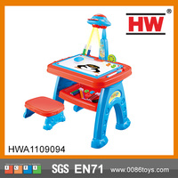 Children Multifunctional Educationally Drawing Toys Sets Painting Toy projector learning table for kids