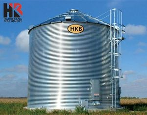 Small 500t Wheat Grain Storage Steel Silo Tank