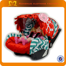 Infant Car seat Cover and canopy 100% cotton Infant car seat covers red moroccan with teal chevron for Cute car seat cover
