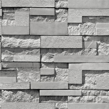 Newest Stone 3D Mural Wallpaper/Interior 3D Brick Wall Paper