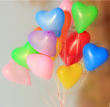 100 PCS/lot Heart Shaped Latex Balloons Wedding Birthday Party Decoration Free shipping