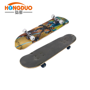 7 ply canadian maple wood skateboard with heat transfer