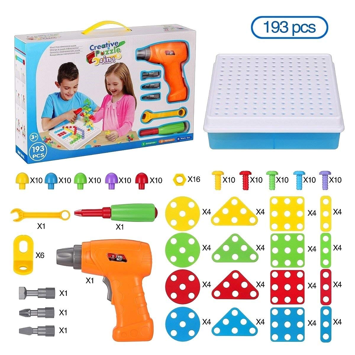 90f81c91a Get Quotations · SUPSTEM Kids Drill Screw Driver Tool Set Pretend Play Toy,  Creative Educational Drilling Game Playset