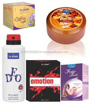 VIJOHN's Women Care Kit (Removedor de pêlos Mel / Açafrão e Açafrão Gold Fairness Creme & Body Butter Jar 200GM & Emotion & Deo)