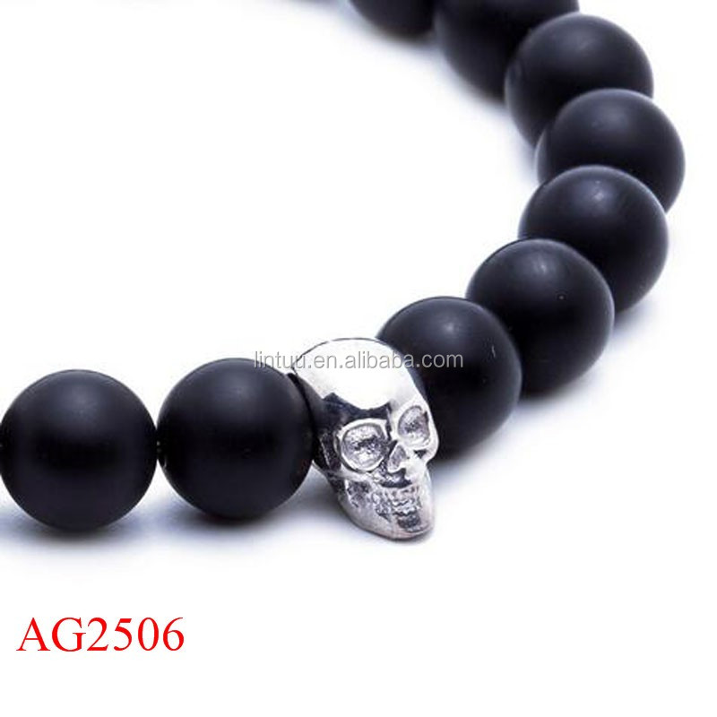 Fashion Jewelry Skull Bracelet Meaning Black Tibetan Stingray