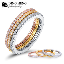 Fashion latest gold finger ring designs Wedding Engagement 925 Sterling Silver gold ring