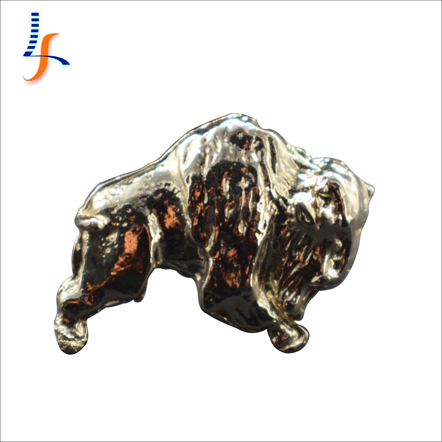 Alta qualidade de prata banhado a lembrança do metal 3d animal feito sob encomenda alfinete de lapela esmalte