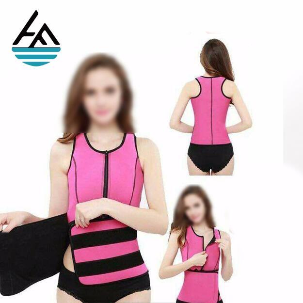 Wholesale Neoprene Sweating Long Torso Butt Lifter Waist Trainer Vest for Fitness