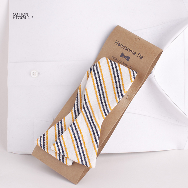 Colorful Stick Out Stripe Mens Cotton Self Tie Bow Ties Mill China