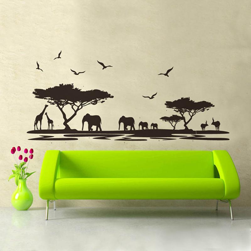 African Animals Wall Sticker Mural