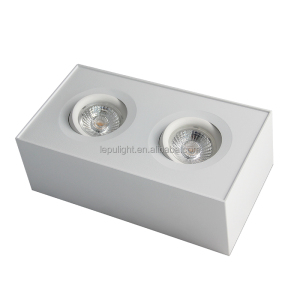 Lepu 2018 new downlights double head 2000k to 2800k dim to warm surface cube downlight led with AcTEC driver