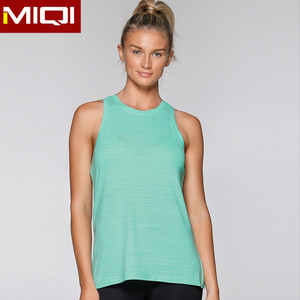 Low MOQ Girls Sexy Seamless Sport Fitness Tank Tops Vest Women Sportswear