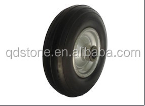 8 inch non-pneumatic PU tyre complete with metal rim from china supplier