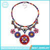 Latest Design Fashion Jewelry 2017 Women Trendy Colorful Flowers Statement Necklace Crystal Rhinestone Collar Choker Necklaces