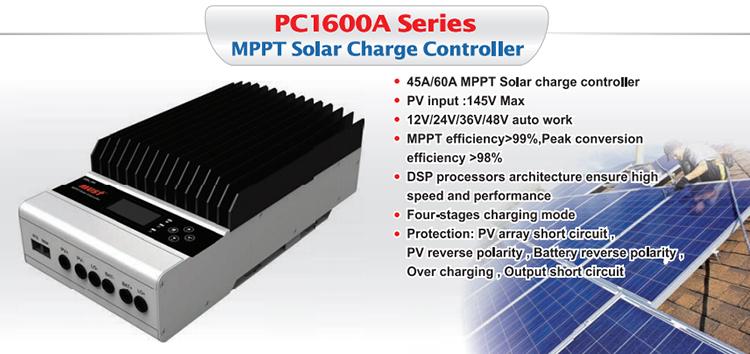 High Quality 12V / 24V / 36V / 48V 60A MPPT Solar Charge Controller