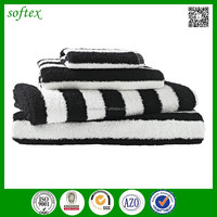 China factory sell cheap promotion cotton towel striped black white