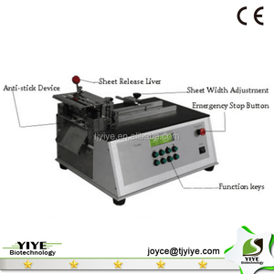 Cutting machine for infectious diease test products and drug test products uncut sheet cutter