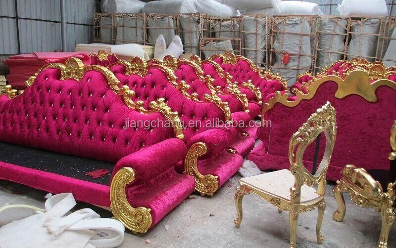 Manufacturing European Hot Pink Royal Furniture Sofa Set - Buy ...