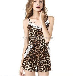 sexy leopard printed women jumpsuits OCW3854
