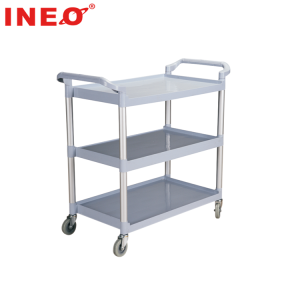 Grey Color Mobile Restaurant And Hotel Serving Cart/Food Service Trolley Prices/Food Service Cart With Wheels