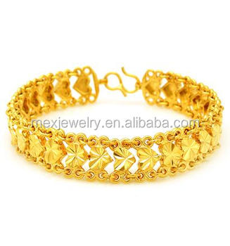 2017 Fashion New Gold Plated Love Heart Shape Bracelet Designs For Women
