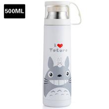 500ML Cartoon Anime Stainless Steel Water Bottle Cute Thermos Drinkware  Bullet Shape Portable Vacuum Coffee Tea Flask Cup 24ec8b3d334b