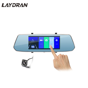 Full HD 1080P 7 inch Dual Lens Car Mirror Camera Recorder with Backup Camera, G-Sensor and Motion Detect