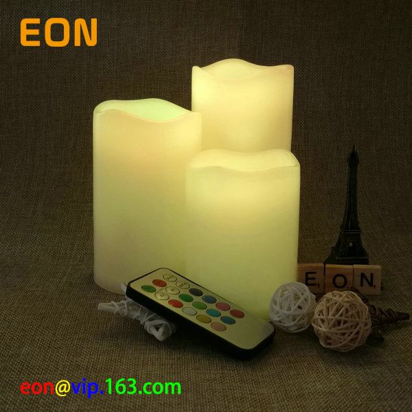 C702 led white candle with 18 keys remote