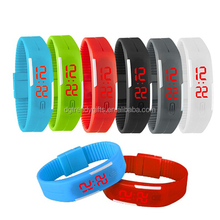 Fashion Sport LED Watches Candy Color Silicone Rubber Touch Screen Digital Watches, Waterproof Bracelet Wristwatch
